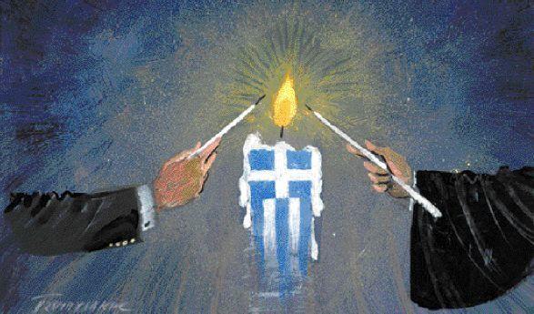 1995 : « Πριν βγει ο Πατριάρχης άναψε η λαμπάδα μου , της μητέρας σου και ενός καλογέρου δίπλα μας, πολλών άλλων και  μαζί άναψαν  οι κανδήλες του Ιερού Κουβουκλίου του ΠΑΝΑΓΙΟΥ ΤΑΦΟΥ»