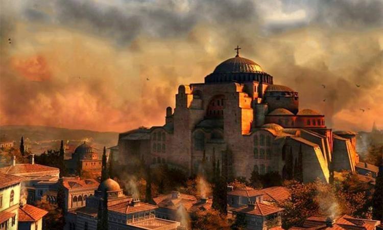 ΕΔΩ ΚΩΝΣΤΑΝΤΙΝΟΥΠΟΛΗ Οι τουρκικές κατσαρόλες που κτυπούν σήμερα θα γίνουν Ελληνικές καμπάνες στον Βόσπορο.