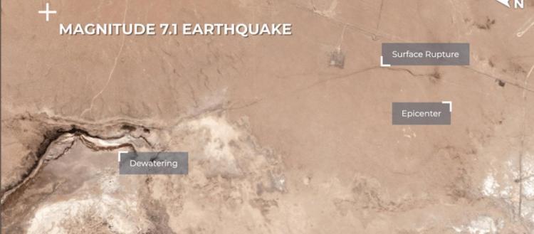 Σεισμός στην Καλιφόρνια: Τρομακτική αλλαγή στον φλοιό της Γης – Η ρωγμή των 7,1 Ρίχτερ από το Διάστημα