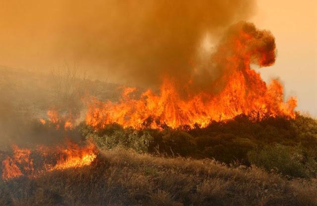 Mεγάλη πυρκαγιά μαίνεται ανεξέλεγκτη στην Αρχαία Ολυμπία: Δόθηκε εντολή εκκένωσης του Ξηρόκαμπου
