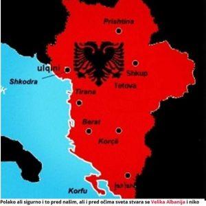 Σερβικό δημοσίευμα: «Επικίνδυνο Σχέδιο- οι Αλβανοί πραγματοποιούν τη Μεγάλη Αλβανία!»