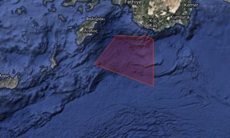 Μόνιμη δέσμευση της περιοχής μεταξύ Ρόδου-Καστελόριζου! Μία ακόμη NAVTEX