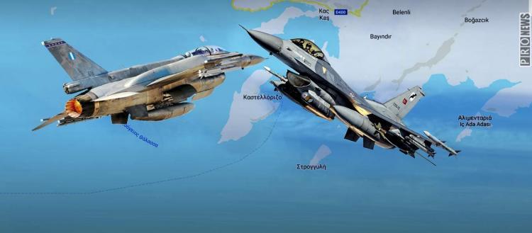 «Τσαμπουκάς» Ρ.Τ.Ερντογάν σε Κ.Μητσοτάκη: Έστειλε F-16 πάνω από την Ρω και την Μεγίστη πριν την συνάντησή τους