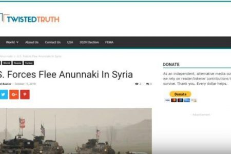 U.S. Forces Flee Anunnaki in Syria