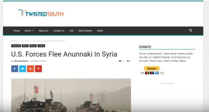 U.S. Forces Flee Anunnaki in Syria