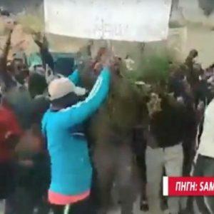 Καζάνι που βράζει η Σάμος: Συγκρούσεις προσφύγων και λουκέτο στο Δημαρχείο