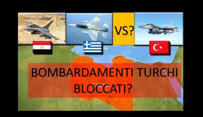 EKTAKTO 1 βήμα από τον πόλεμο. Ελλάδα και Αίγυπτος έκλεισαν τον εναέριο χώρο τους και απέτρεψαν αεροπορικές επιδρομές τουρκικών F16 κατά βάσεων LNA στη Λιβύη.