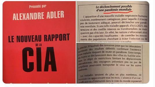 """Το βιβλίο """"Η νέα έκθεση της CIA: πώς θα είναι ο κόσμος το 2025;"""" αποδεικνύει πως η Η CIA είχε """"προβλέψει"""" από το 2009 την πανδημία."""