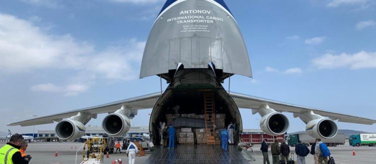 Νέα βοήθεια από Κίνα: Έφτασαν 80 τόνοι υγειονομικού υλικού στο Ελ.Βενιζέλος