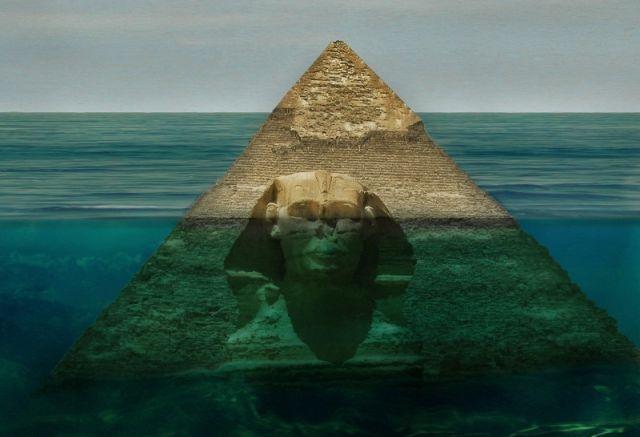 Ανακαλύφθηκαν τεράστιες βυθισμένες πυραμίδες και Σφίγγα … Αυτό που συνέβη στη συνέχεια ήταν πολύ συγκλονιστικό!