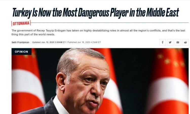 The Daily Beast: Η Τουρκία είναι τώρα ο πιο επικίνδυνος παίκτης στη Μέση Ανατολή…Έβαλε πόδι σ΄Ελληνικά και Κυπριακά ύδατα…..