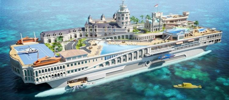 Το πλουσιότερο γιοτ του πλανήτη που μοιάζει με υπερπολυτελή πόλη (φώτο)