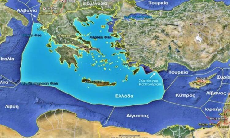 """Προς γεωπολιτικό """"σεισμό"""" στην Α. Μεσόγειο: Έρχεται οριοθέτηση ΑΟΖ Ελλάδας-Κύπρου."""