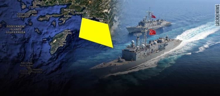 Πυροδοτεί εκ νέου το κλίμα η Άγκυρα: Τουρκικές ασκήσεις με πραγματικά πυρά ανάμεσα σε Ρόδο και Καστελόριζο