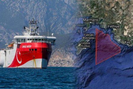 Στα 6 ναυτικά μίλια από τη Ρω το Ορούκ Ρέις με βάση τη νέα NAVTEX!