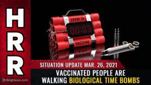 Αυτό κι αν είναι ΒΟΜΒΑ ΜΕΓΑΤΟΝΩΝ! Εμβολιασμένοι άνθρωποι περπατούν βιολογικές ωρολογιακές βόμβες και απειλή για την κοινωνία.
