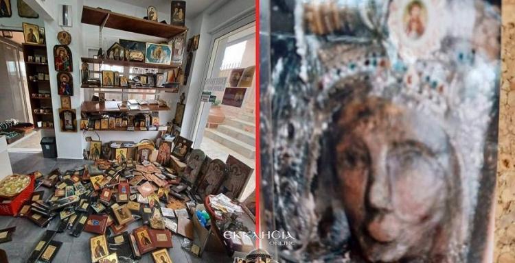 Απίστευτες εικόνες στην Εκκλησία του Ταξιάρχη Λαυριώτη. «Νιώσαμε τράνταγμα σα σεισμό, έτρεχαν τα μάτια του».