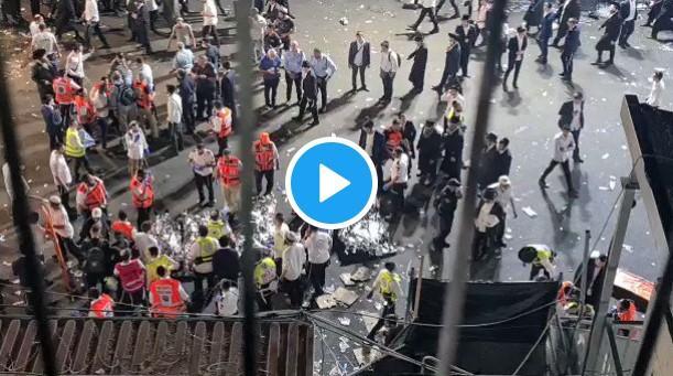 Ισραήλ: Σοκάρουν οι εικόνες από την τραγωδία – Πιστοί ποδοπατήθηκαν μέχρι θανάτου.