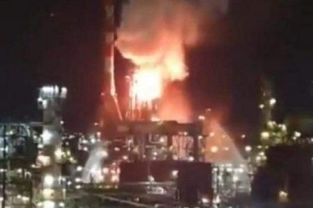 Πυρκαγιά στη Χάιφα στο Ισραήλ σε πετροχημικές εγκαταστάσεις,διυλιστήρια!!ΒΙΝΤΕΟ.
