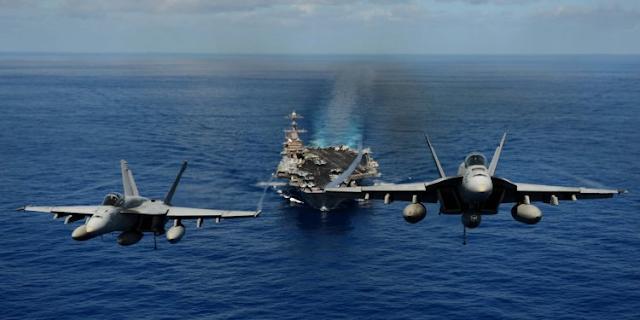 Δύο Αεροπλανοφόρα Του Αμερικανικού Ναυτικού Απέπλευσαν Από Τις Δύο Ακτές Των ΗΠΑ Με Κατεύθυνση Νότια