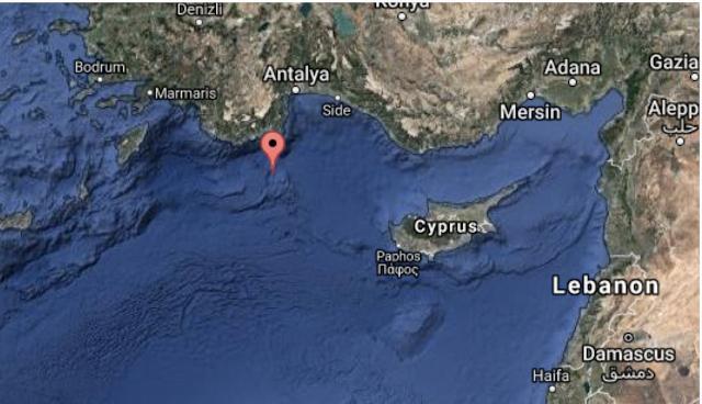 Οι Τούρκοι Αποκλείουν Περιοχή 10 Ναυτικών Μιλίων Πέριξ Του Καστελόριζου