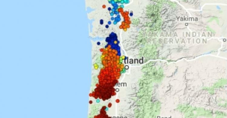 Σημαντικό συμβάν αργής -ολίσθησης στον Puget αυξάνει τον κίνδυνο μεγάλων σεισμών κοντά στο Σίατλ κατά μήκος της ζώνης Cascadia.