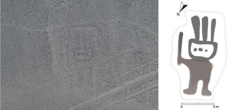 Γραμμή Nazca με ανθρωποειδής μορφή ανακαλύφθηκε από την AI στην Περουβιανή Έρημο.
