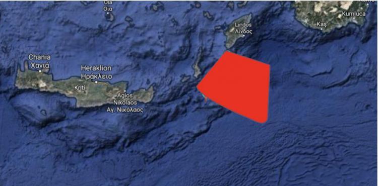 ΕΚΤΑΚΤΟ : έγινε και αυτό, η τουρκία δεσμεύει περιοχές γύρω από την Κρήτη.