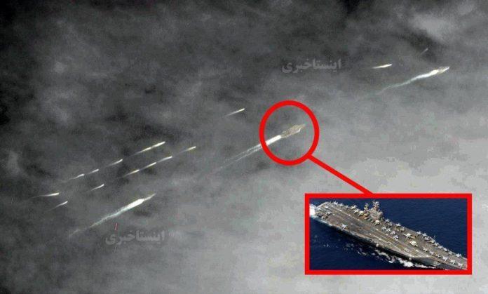 """Παρενόχληση αμερικανικού αεροπλανοφόρου από """"σμήνος"""" 20 ιρανικών σκαφών."""