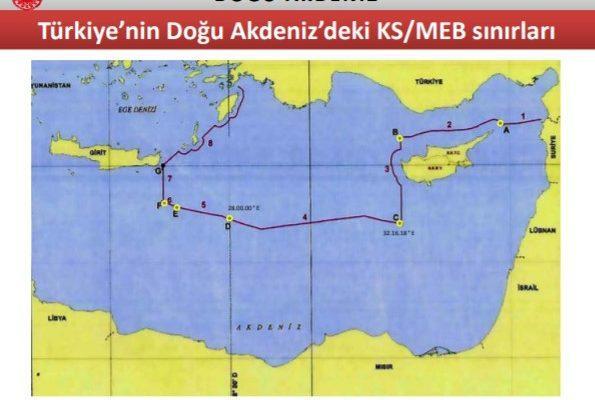 Χάρτες που βολεύουν την Τουρκία: Χωρίς ΑΟΖ Καστελόριζο-Κύπρος