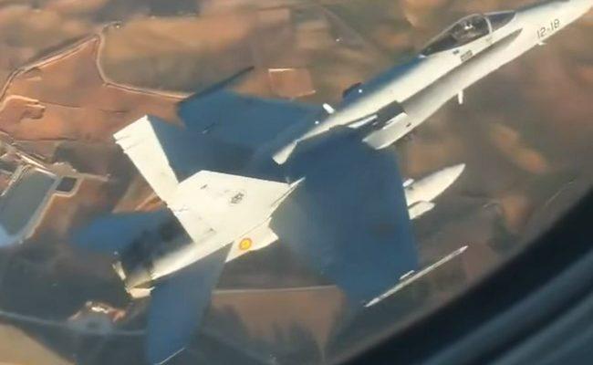 Αναγκαστική προσγείωση Boeing στη Μαδρίτη: Συνοδεία μαχητικού F-18 για… κάθε ενδεχόμενο