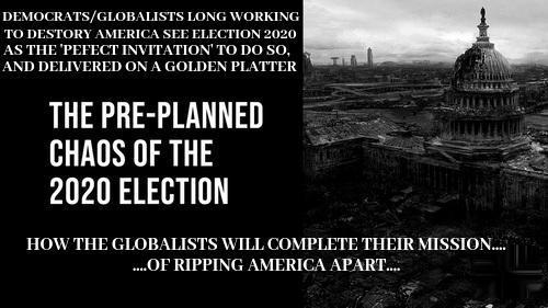 Κίνδυνος! Κίνδυνος! Οι τελευταίοι μήνες του 2020 θα είναι ένα ναυάγιο τρένου αργής κίνησης για την Αμερική με χάος λόγω των εκλογών.