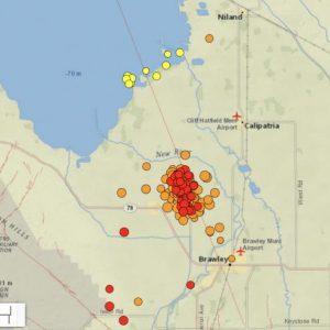 Η USGS λέει ότι υπάρχει πιθανότητα 1 στις 300 ότι το τρέχον σμήνος σεισμών του Σαλτονίου θα ακολουθηθεί από μέγεθος 7 ρίχτερ ή μεγαλύτερο.