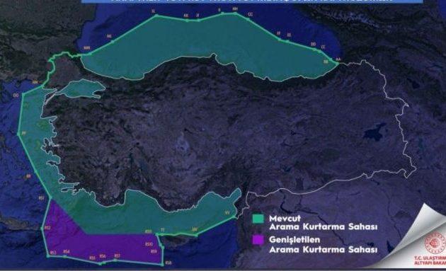 Οι Τούρκοι διχοτόμησαν το Αιγαίο με πρόσχημα την «έρευνα και διάσωση» – Αντίδραση από Αθήνα.