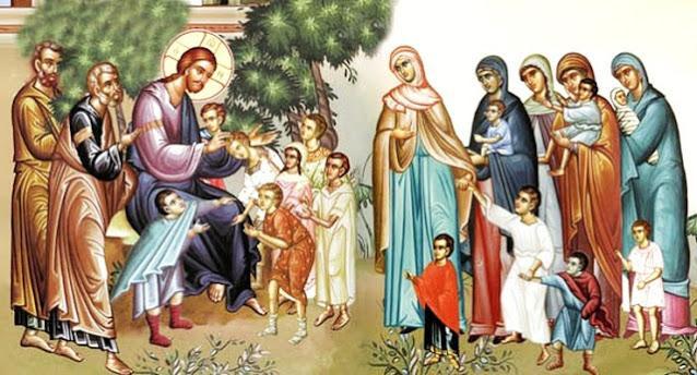 Το παιδάκι που ευλόγησε ο ΧΡΙΣΤΟΣ πάτησε τα αγιασμένα ποδαράκια του στην ΑΓΙΑ ΜΑΚΕΔΟΝΙΑ μας.