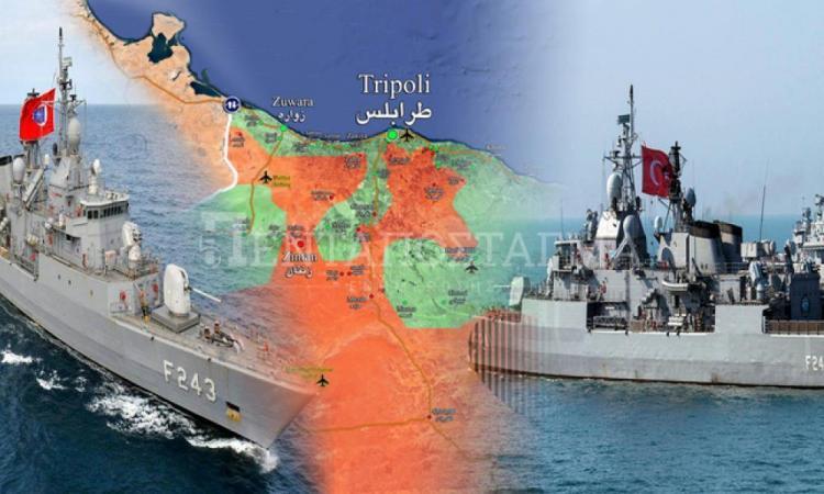 Ετοιμάζει πόλεμο ο Ερντογάν – Έξι πολεμικά πλοία τον κόλπο της Σύρτης.