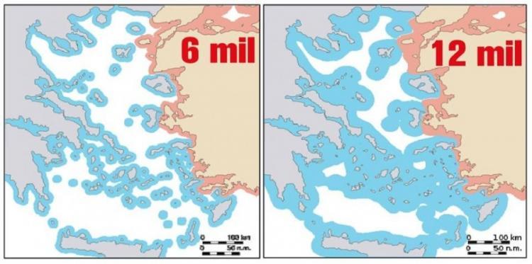H Τουρκία ανησυχεί ότι η Ελλάδα θα επεκτείνει τα χωρικά ύδατα στα 12 μίλια στο Αιγαίο… αλλά στην πράξη είναι αδύνατο.