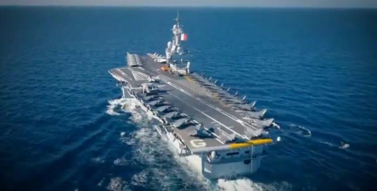 """Γαλλία: Αποστολή στην ανατολική Μεσόγειο για το """"Charles de Gaulle""""."""