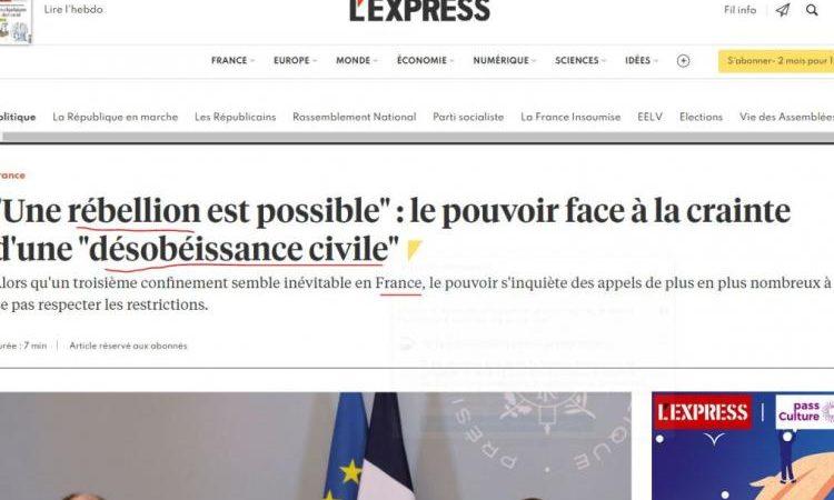 Μια εξέγερση είναι πιθανή στη Γαλλία ενόψει ενός τρίτου lockdown!