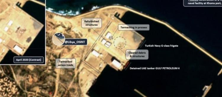 Λιβύη: Μεγάλη ναυτική βάση κατασκευάζει η Τουρκία στην Khoms νότια της Κρήτης.