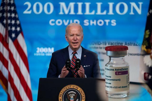 Η.Π.Α: Ο Biden θα μοιράσει εκατομμύρια δόσεις εμβολίου AstraZeneca παγκοσμίως…καθώς δεν υπάρχει ζήτηση από τους Αμερικανούς…!