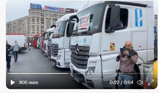 Mετά την Ιταλία και στη Ρουμανία οι φορτηγατζήδες κλείνουν τους αυτοκινητόδρομους!! BINTEO.
