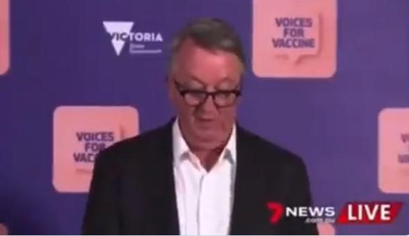 """Υπουργός Υγείας Μελβούρνης: """"απ' όσους νοσηλεύθηκαν χθες το 78% πλήρως εμβολιασμένοι, το 17% μερικώς."""" Οπότε το 95% ήταν εμβολιασμένοι και μόνο το 5% ανεμβολίαστοι!"""