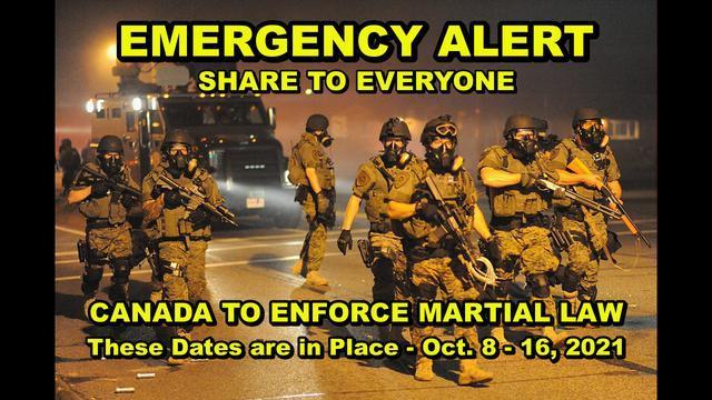 Εκπομπή έκτακτης ανάγκης – Στρατιωτικός νόμος που θα εφαρμοστεί μεταξύ 8-16 Οκτωβρίου στον Καναδά! Αυστραλία, ΗΠΑ,ακολουθούν και άλλες χώρες ;! – Must Video