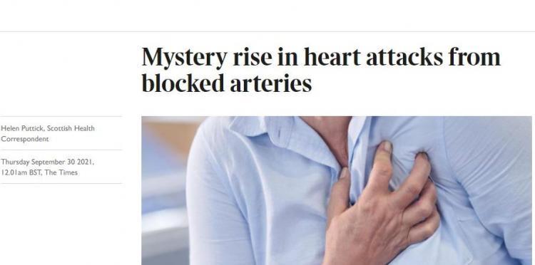 ΤΗΕ TIMES: Μυστηριώδης αύξηση καρδιακών προσβολών κατά 25%…